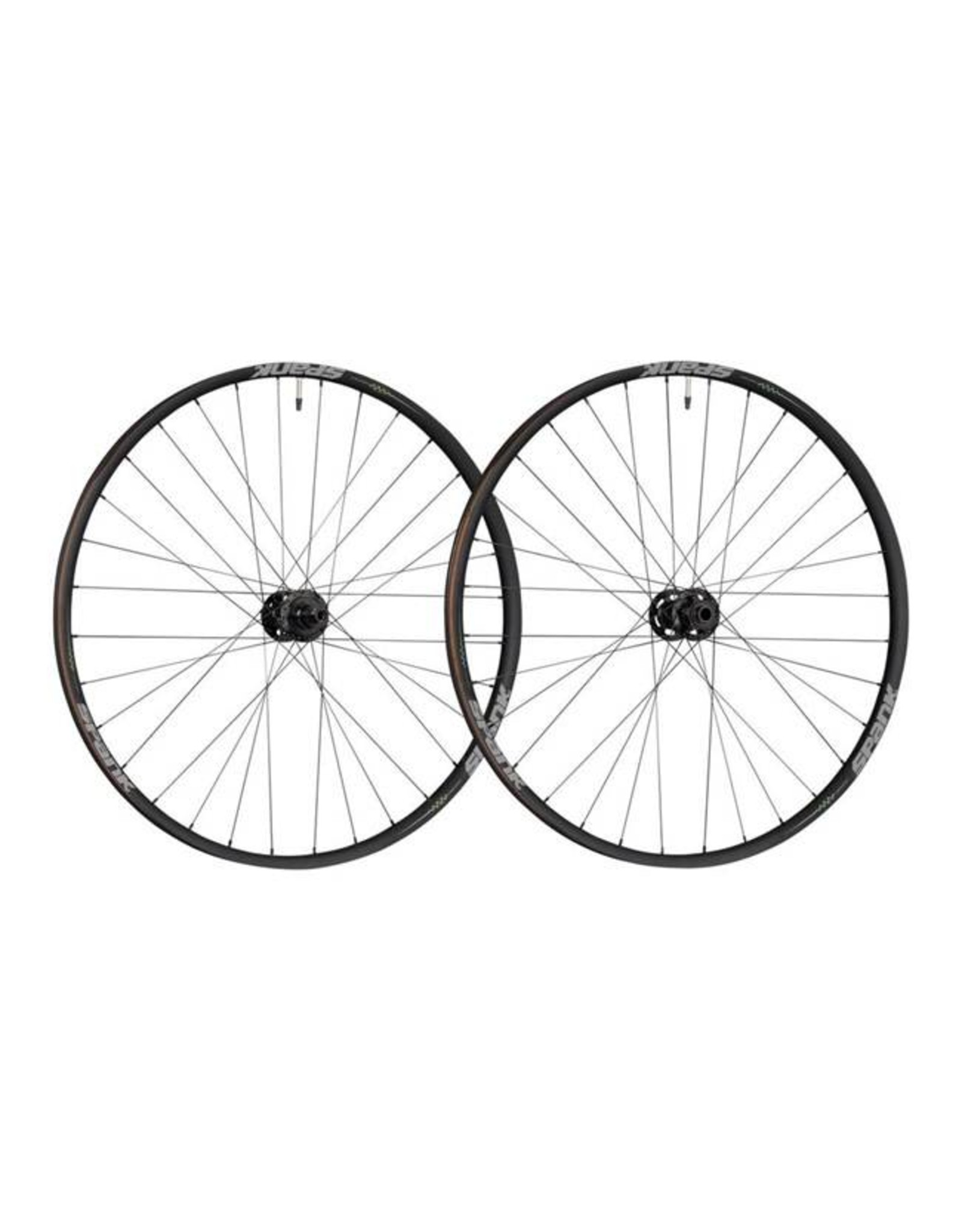 "Spank Spank Spike 350 Vibrocore Boost Wheelset: 29"" 15 x 110mm Front 12 x 148mm Rear Shimano 10/11 MTB Freehub, Black"