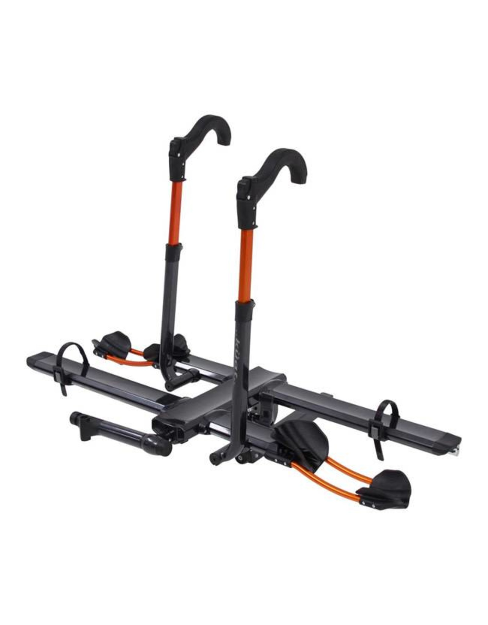 "Kuat Kuat NV 2.0 2-Bike Tray Hitch Rack: Metallic Gray and Orange, 2"" Receiver"