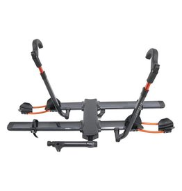 "Kuat Kuat NV 2.0 2-Bike Tray Hitch Rack: Metallic Gray and Orange, 1 1/4"" Receiver"
