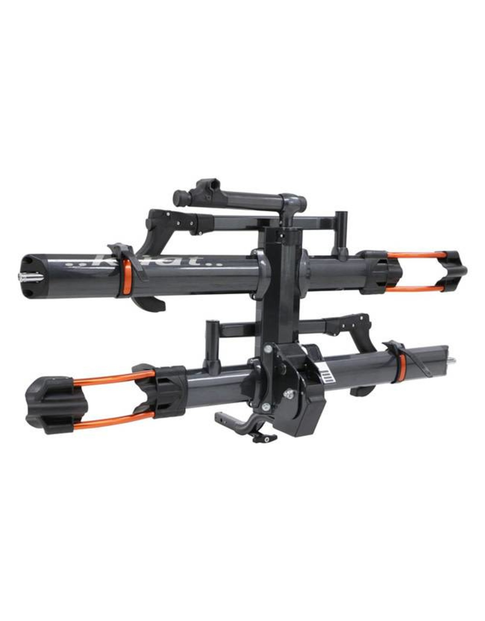 "Kuat Kuat NV 2.0 2-Bike Tray Hitch Rack: Metallic Gray and Orange, 1 1/4"" Receiver"