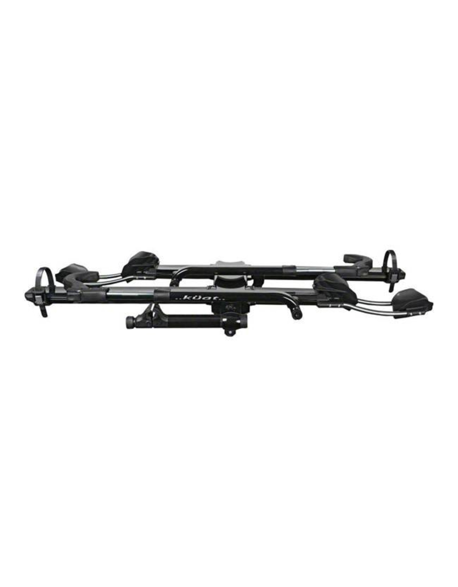 "Kuat Kuat NV 2.0 2-Bike Tray Hitch Rack: Metallic Black and Chrome, 1 1/4"" Receiver"