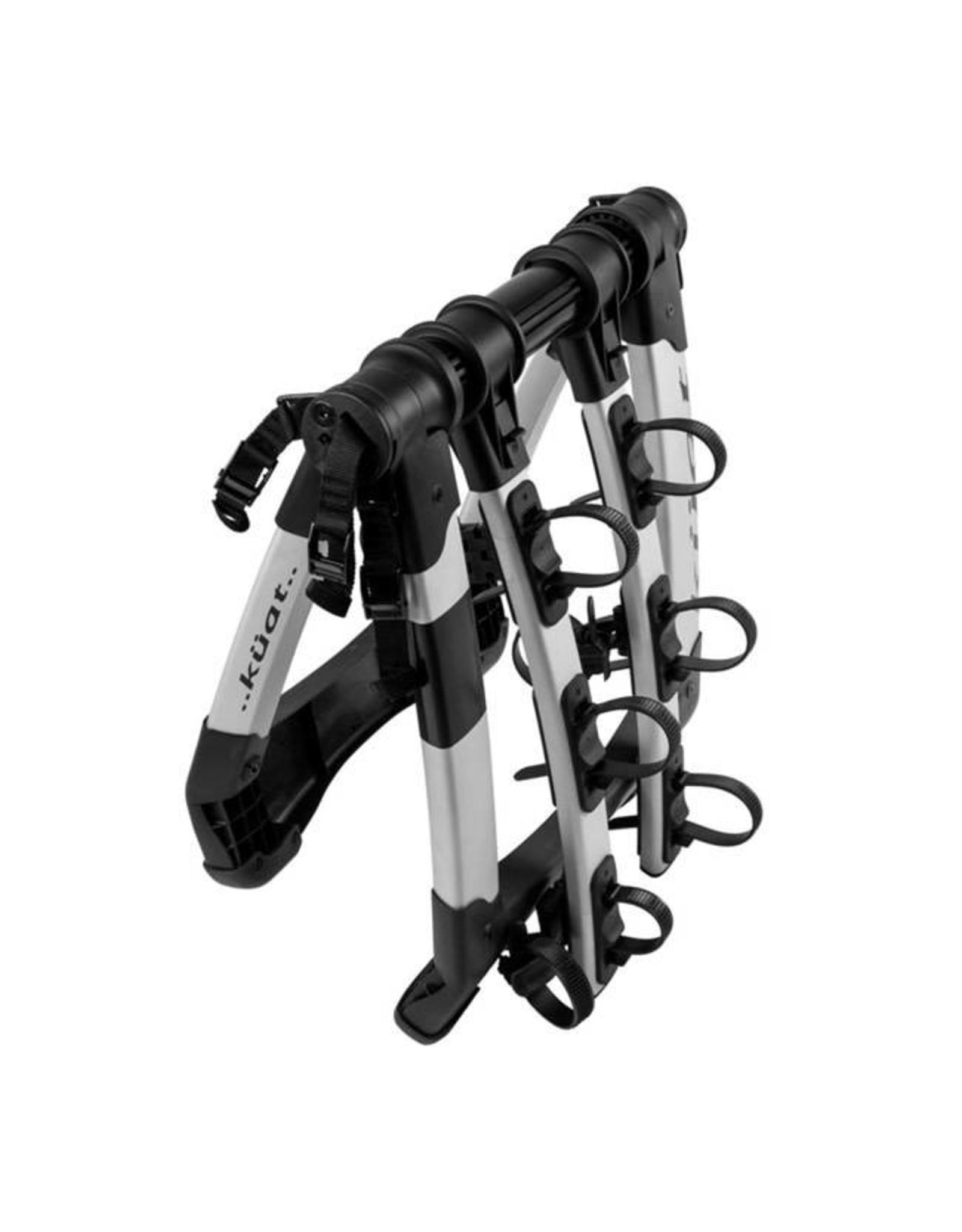 Kuat Kuat Highline Trunk Rack: 3 Bike Silver/Black