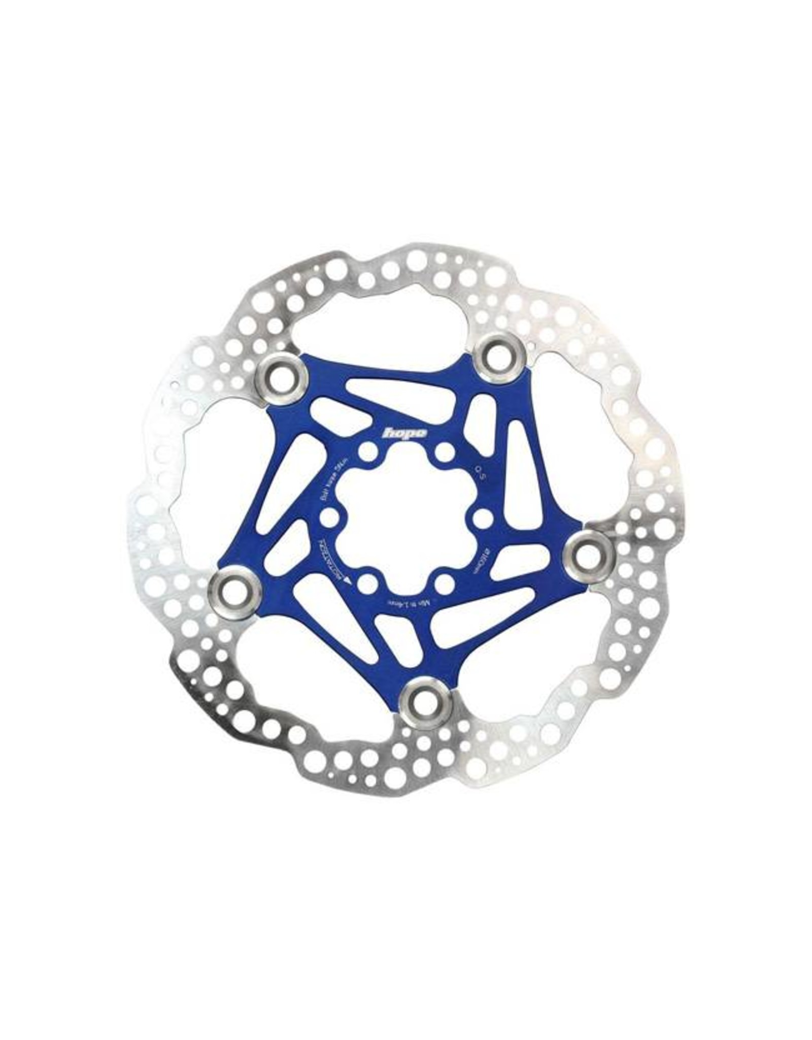 Hope Hope Floating Disc Rotor: 160mm Blue