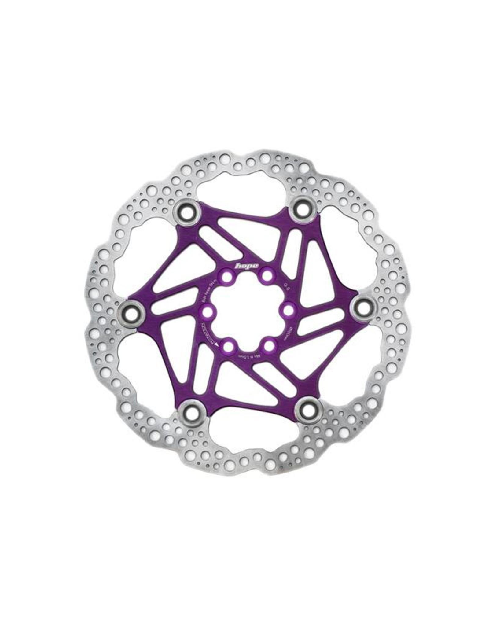 Hope Hope Floating Disc Rotor: 180mm Purple