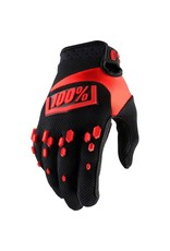 100% 100% Airmatic Full Finger Glove: Black/Red LG