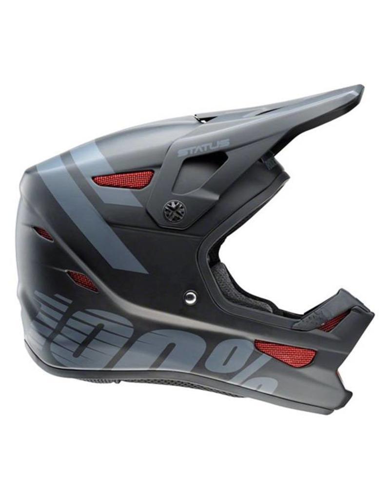 100% 100% Status Full-Face Youth Helmet: Black Meteor MD