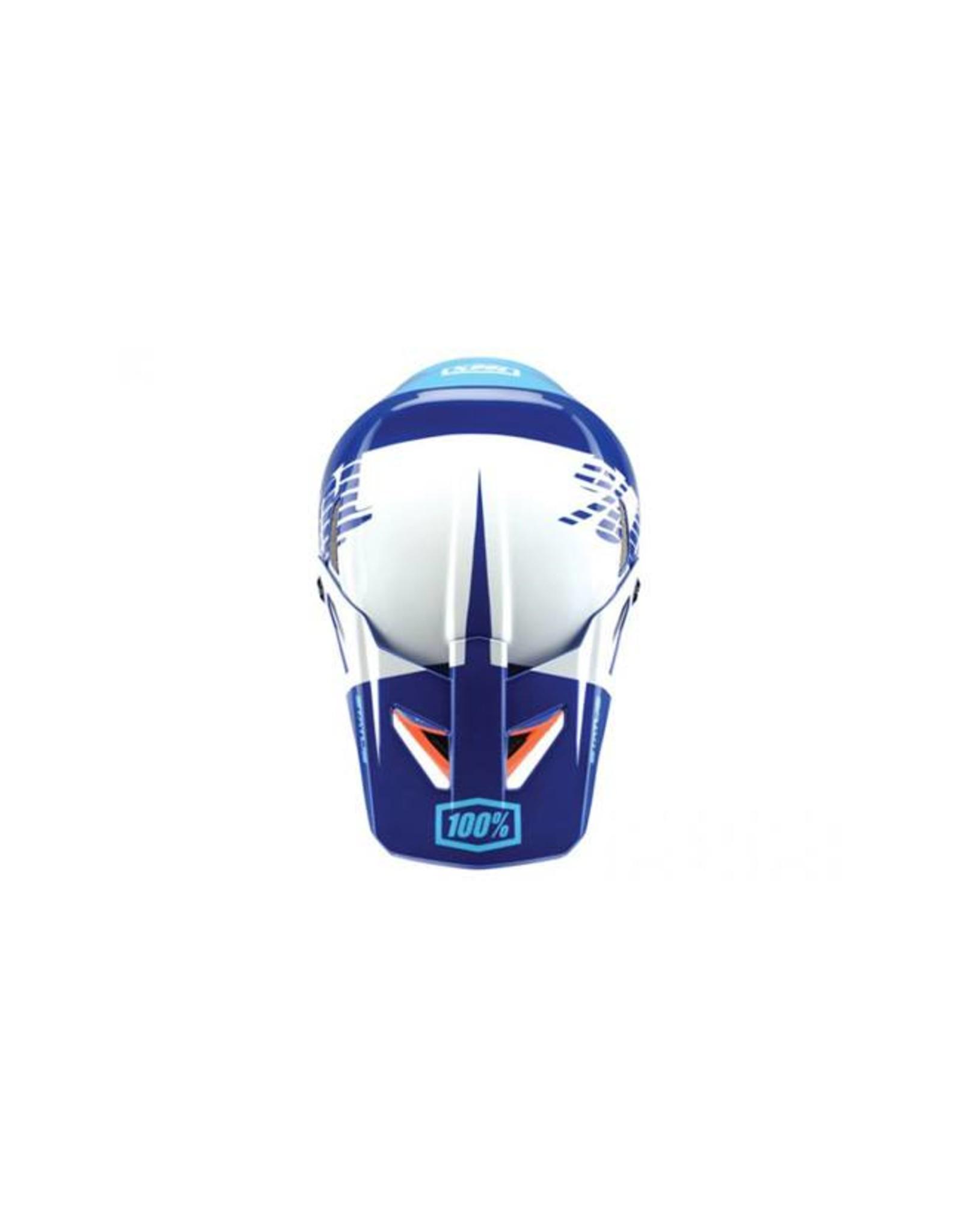 100% 100% Status Full-Face Helmet: Kelton Blue MD