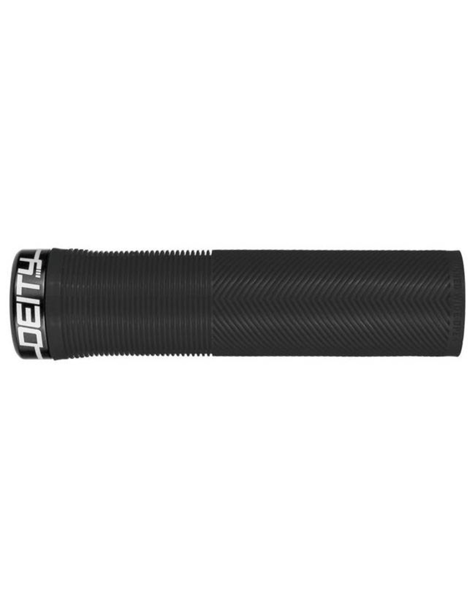 Deity Components Deity Knuckleduster Lock-on Grips: Black with Black Clamp