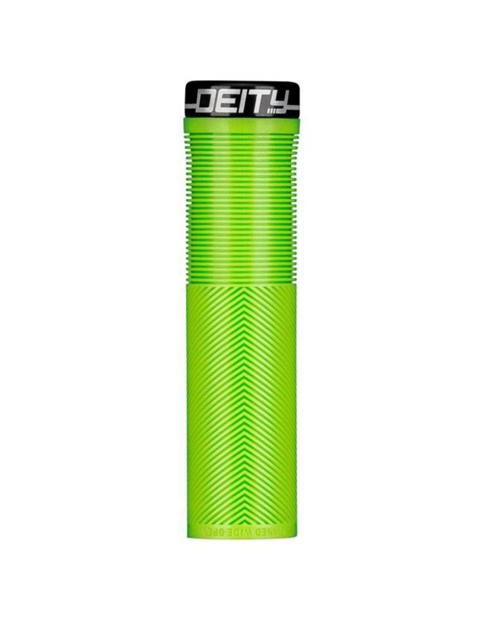 Deity Components Deity Knuckleduster Lock-on Grips: Green with Black Clamp