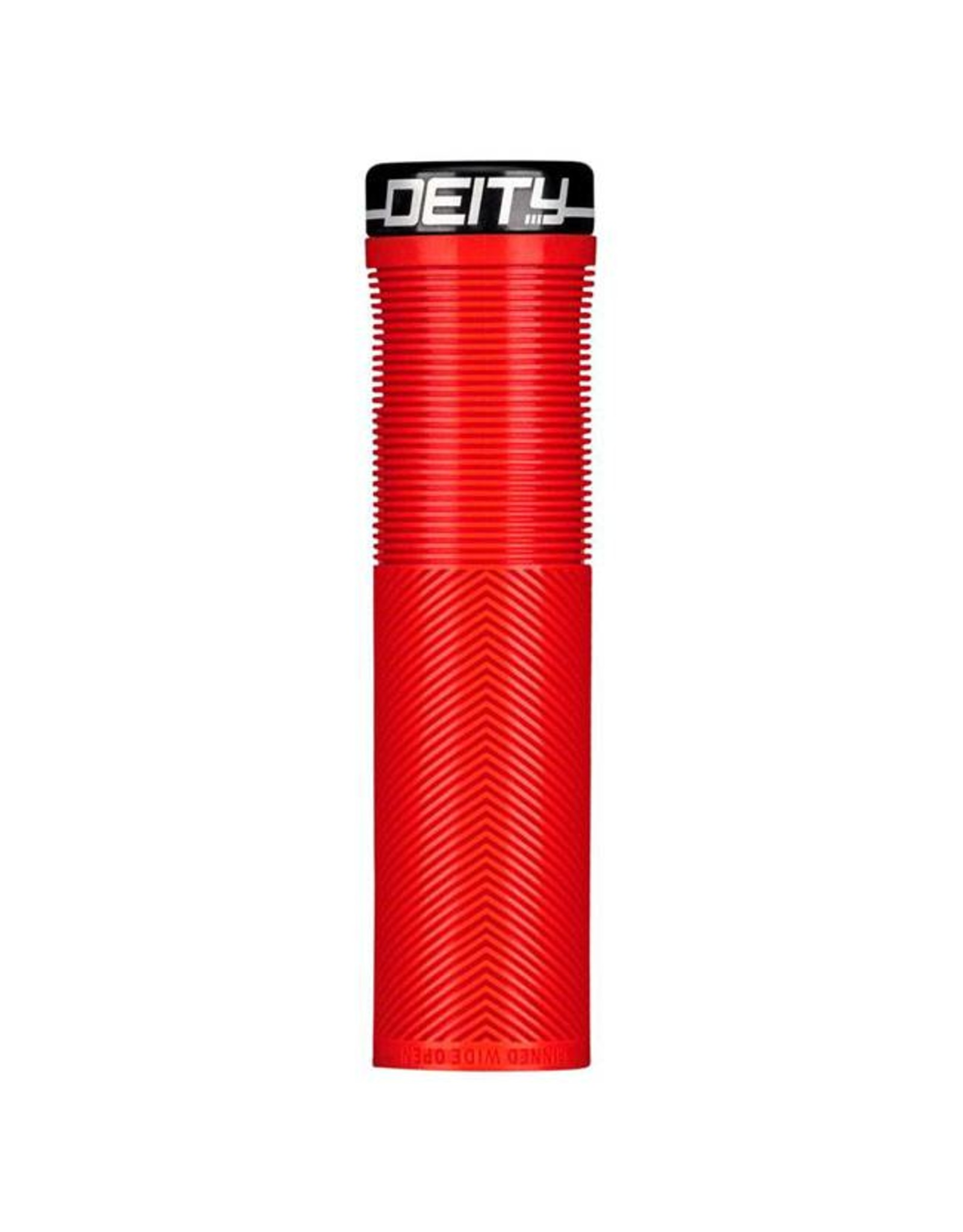 Deity Components Deity Knuckleduster Lock-on Grips: Red with Black Clamp