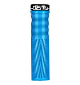 Deity Components Deity Knuckleduster Lock-on Grips: Blue with Black Clamp