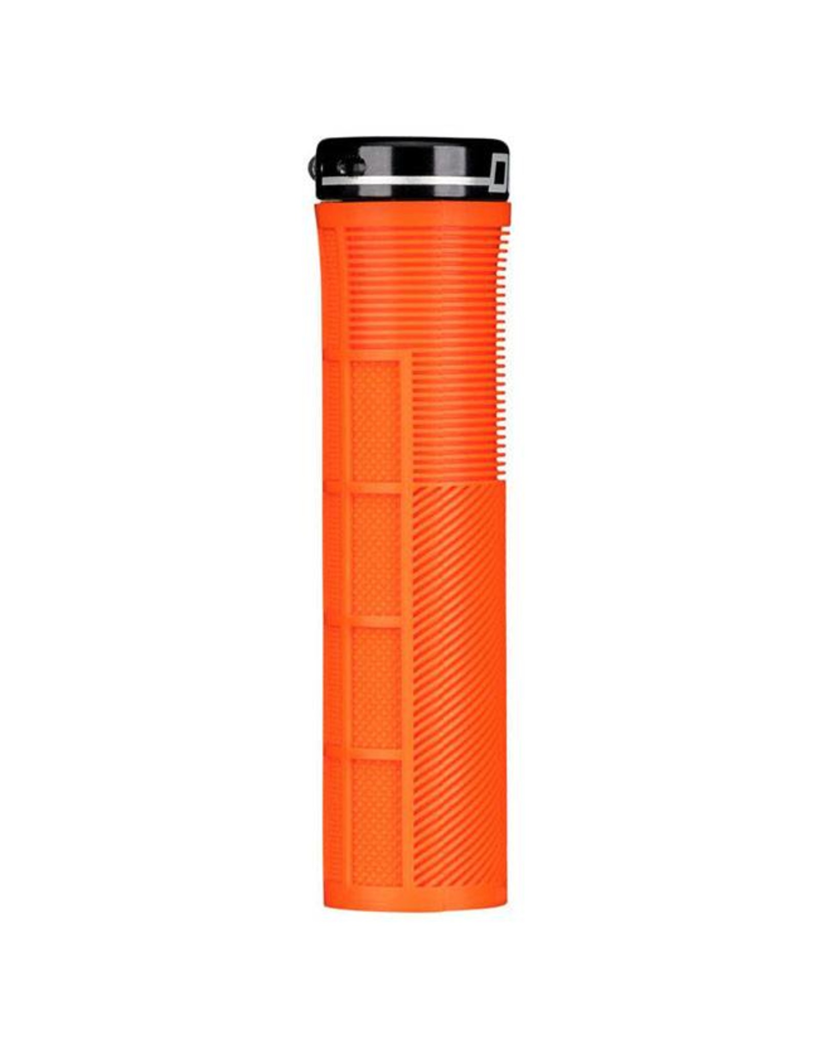 Deity Components Deity Knuckleduster Lock-on Grips: Orange with Black Clamp