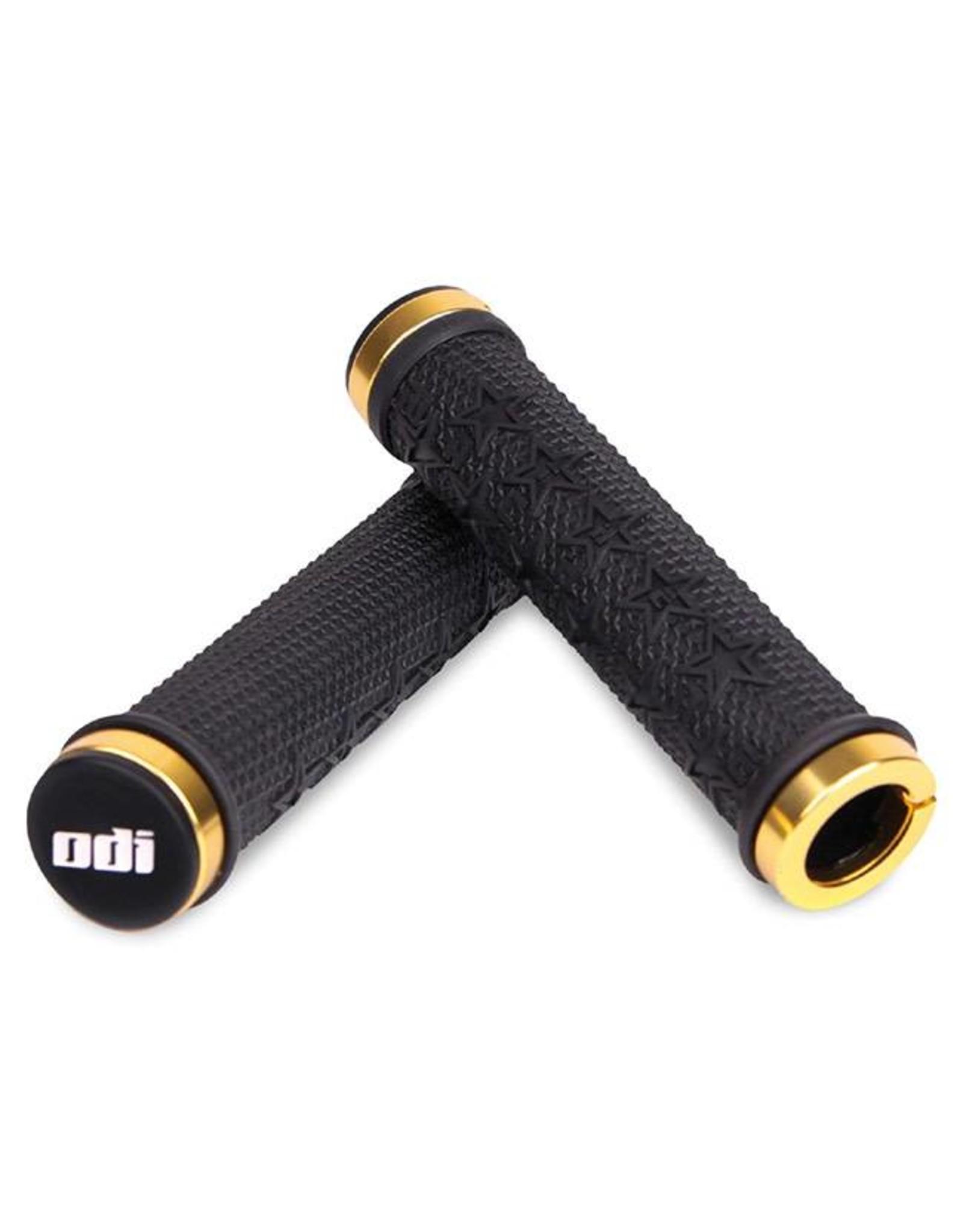 ODI ODI The Machine Lock-On Grips Black w/Gold Clamps