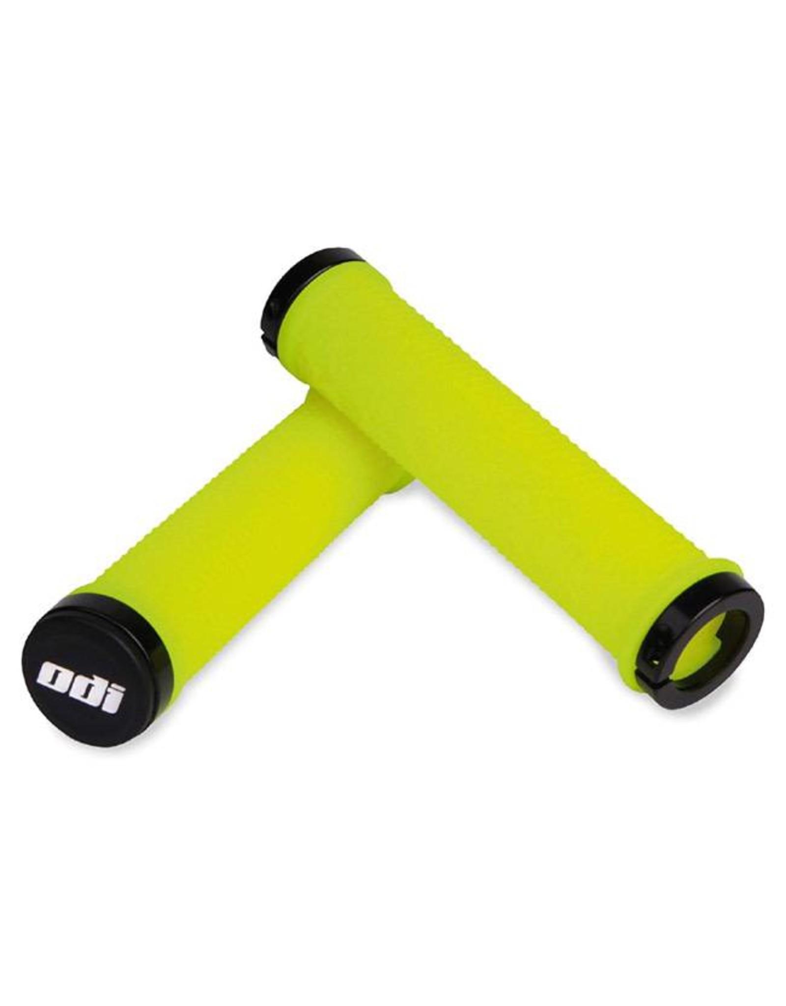 ODI ODI The Machine Lock-On Grips Yellow w/Black Clamps