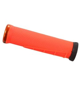 ODI ODI Elite Flow Lock-On Grips Orange with Orange Clamps