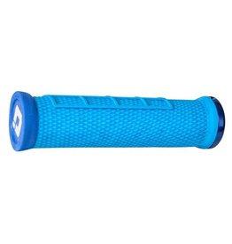 ODI ODI Elite Flow Lock-On Grips Light Blue with Blue Clamps