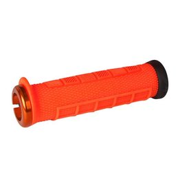 ODI ODI Elite Pro Lock-On Grips Orange with Orange Clamps