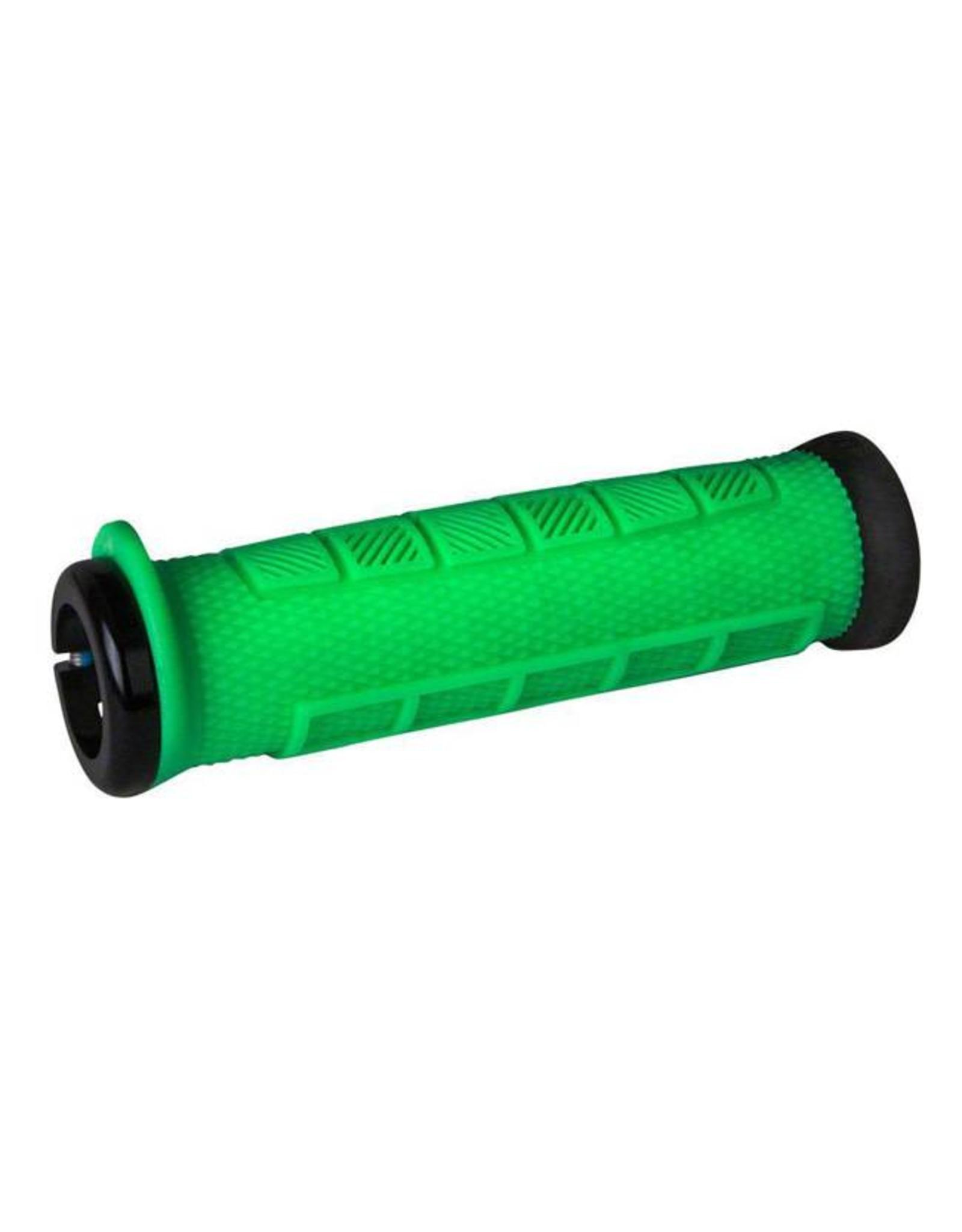 ODI ODI Elite Pro Lock-On Grips Retro Green with Black Clamps