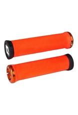 ODI ODI Elite Motion Lock-On Grips Orange with Orange Clamps