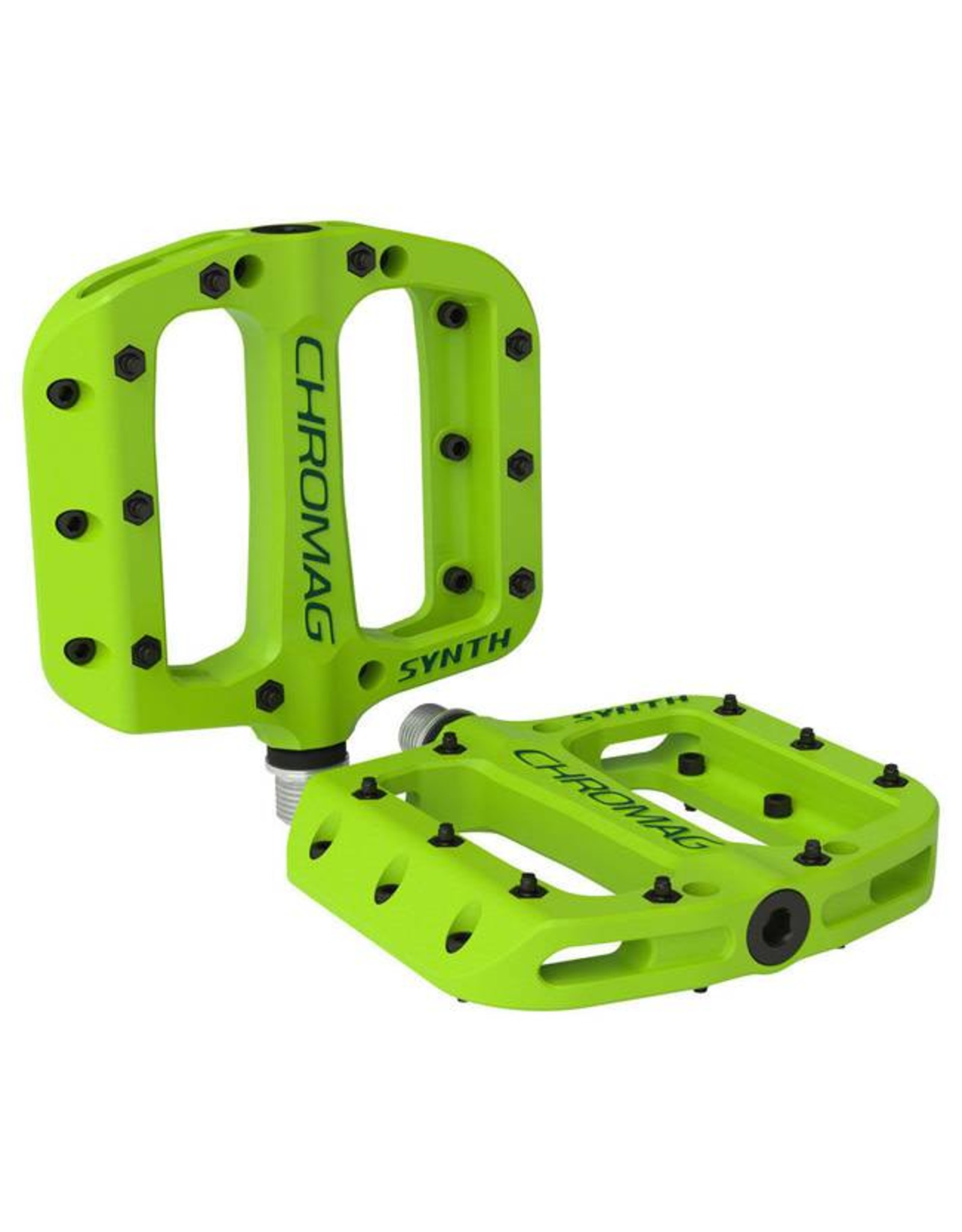 """Chromag Synth Composite Platform Pedals: 9/16"""", Green"""