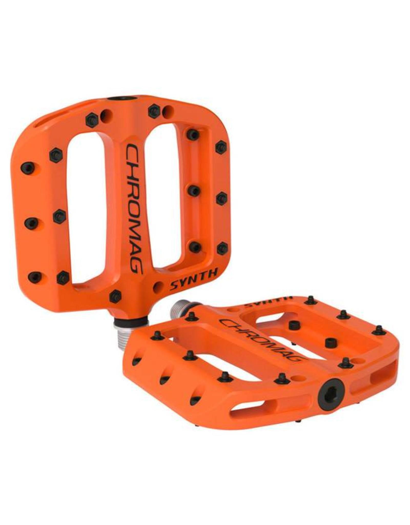 "Chromag Synth Composite Platform Pedals: 9/16"", Orange"