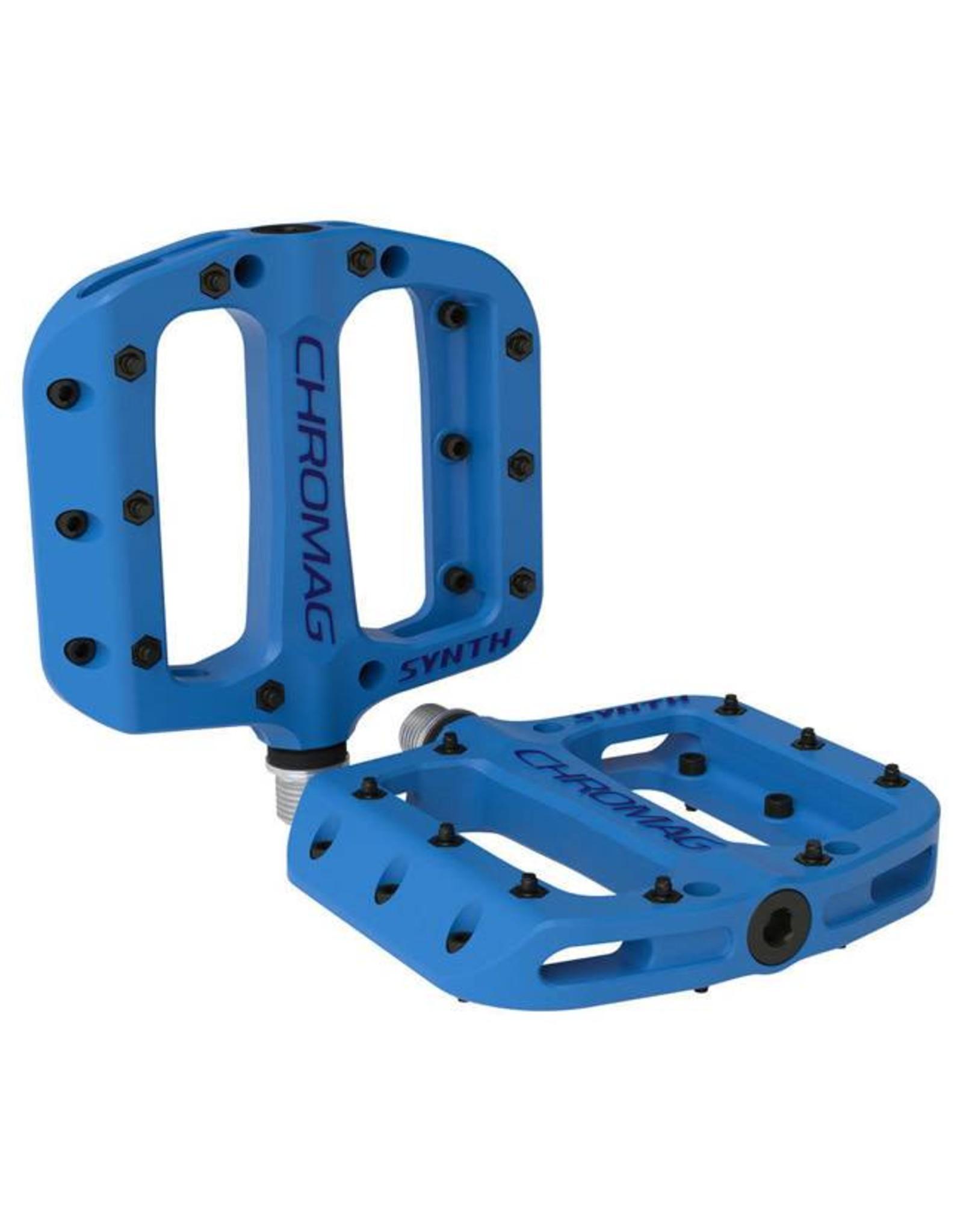 "Chromag Synth Composite Platform Pedals: 9/16"", Blue"