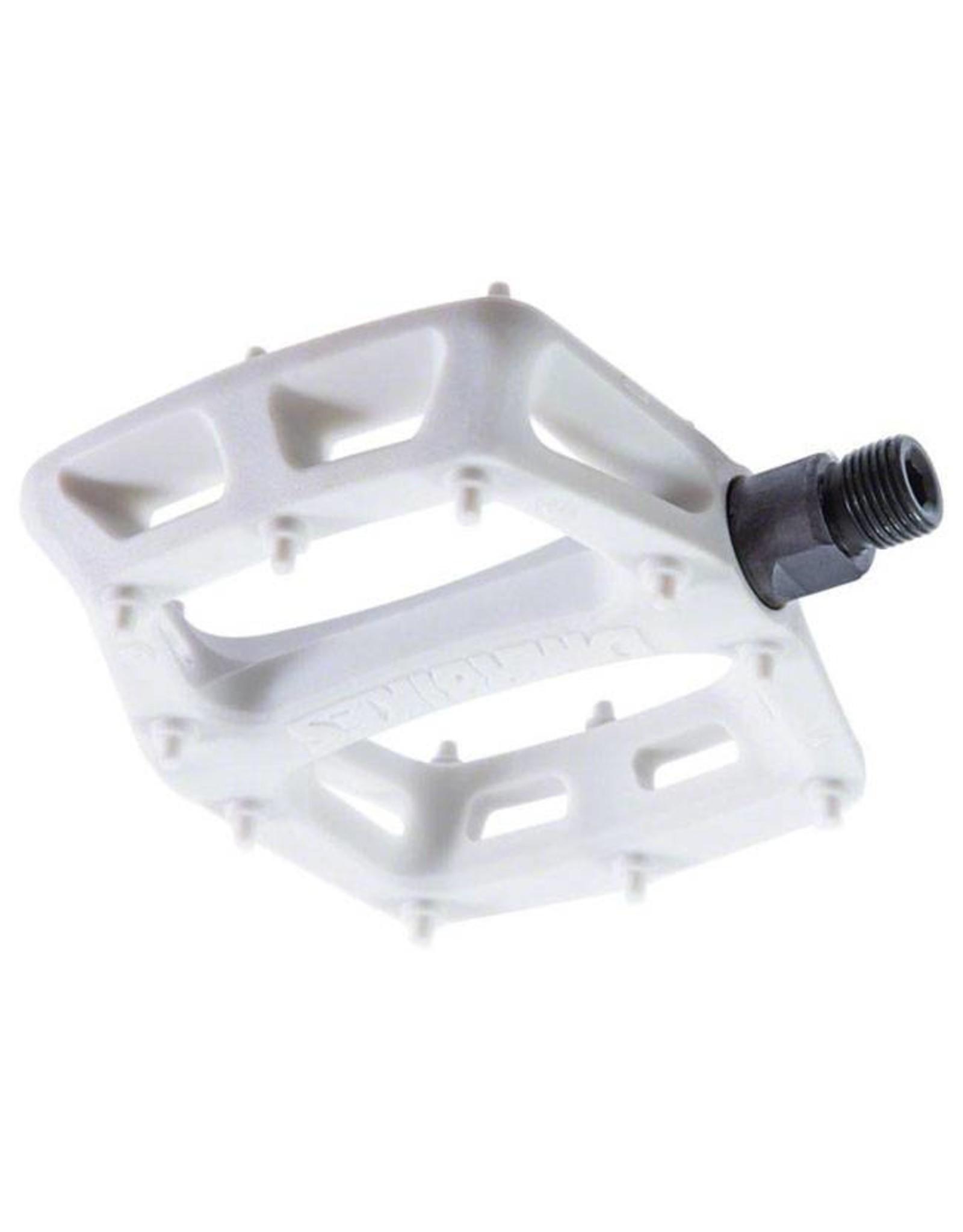 """DMR DMR V6 Pedals, 9/16"""" Plastic Platform White"""