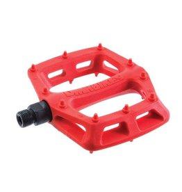 """DMR DMR V6 Pedals, 9/16"""" Plastic Platform Red"""