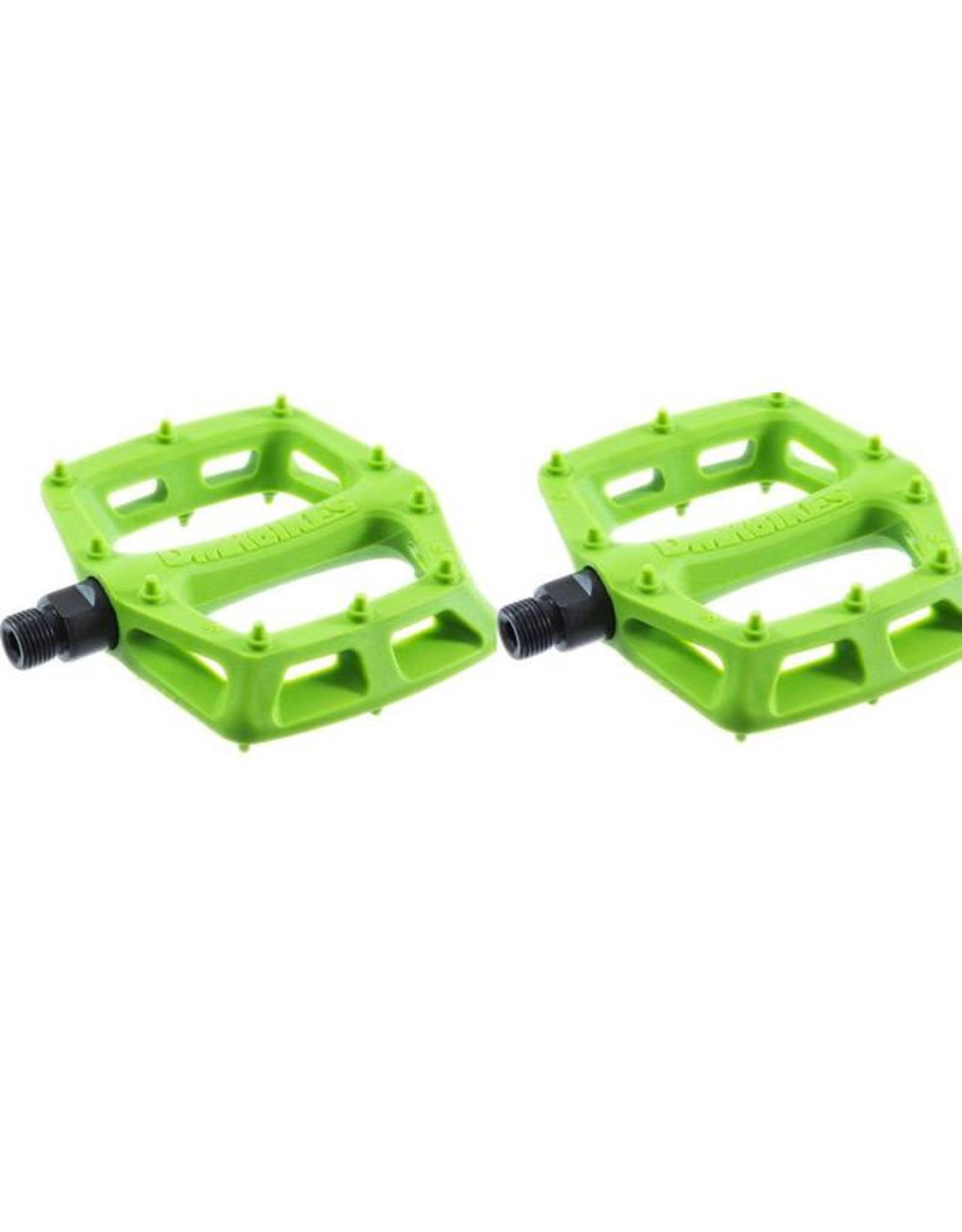 """DMR DMR V6 Pedals, 9/16"""" Plastic Platform Green"""