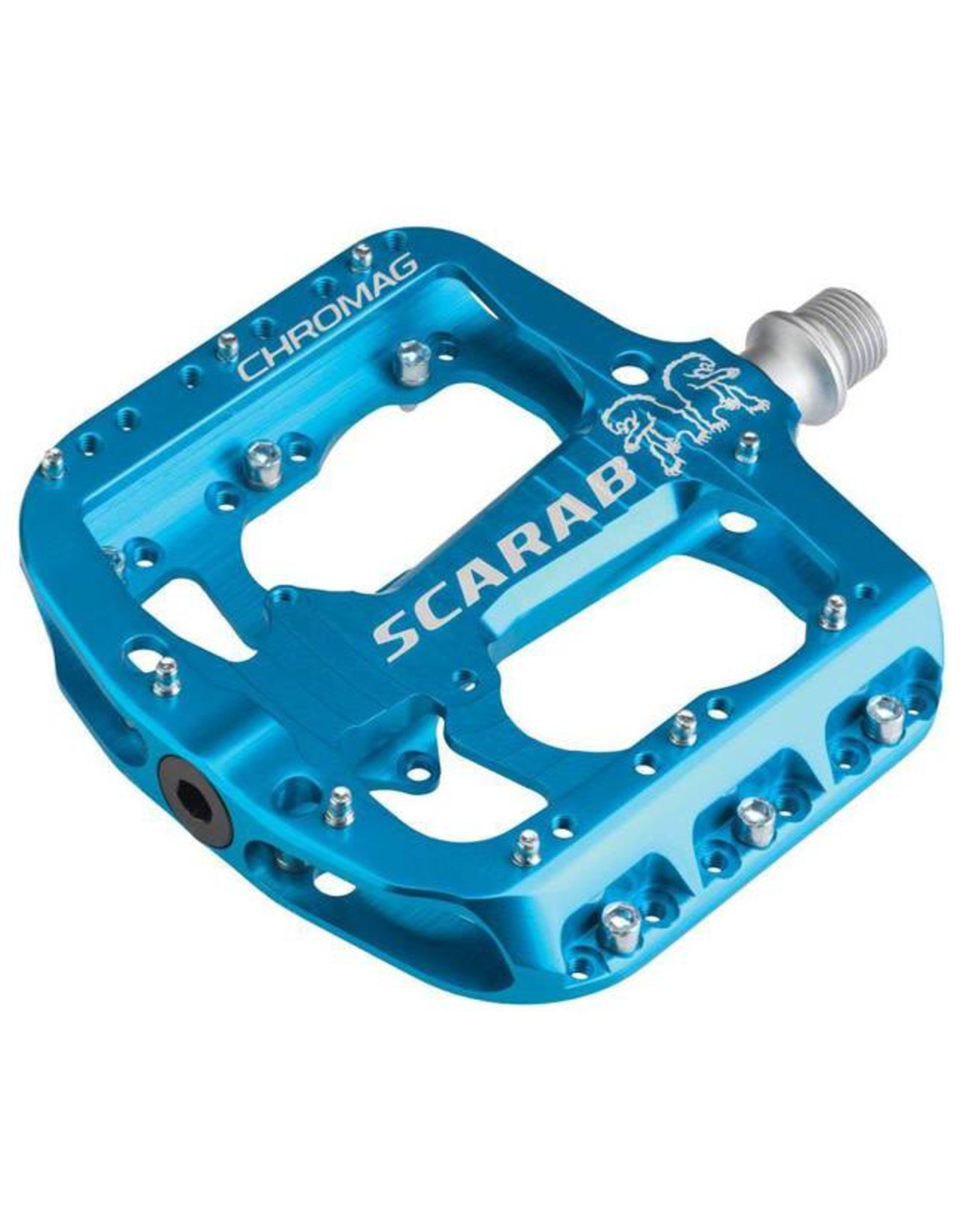 "Chromag Scarab Platform Pedals: 9/16"", Blue"