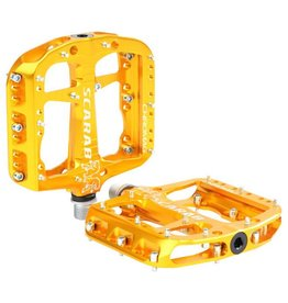 "Chromag Scarab Platform Pedals: 9/16"", Gold"