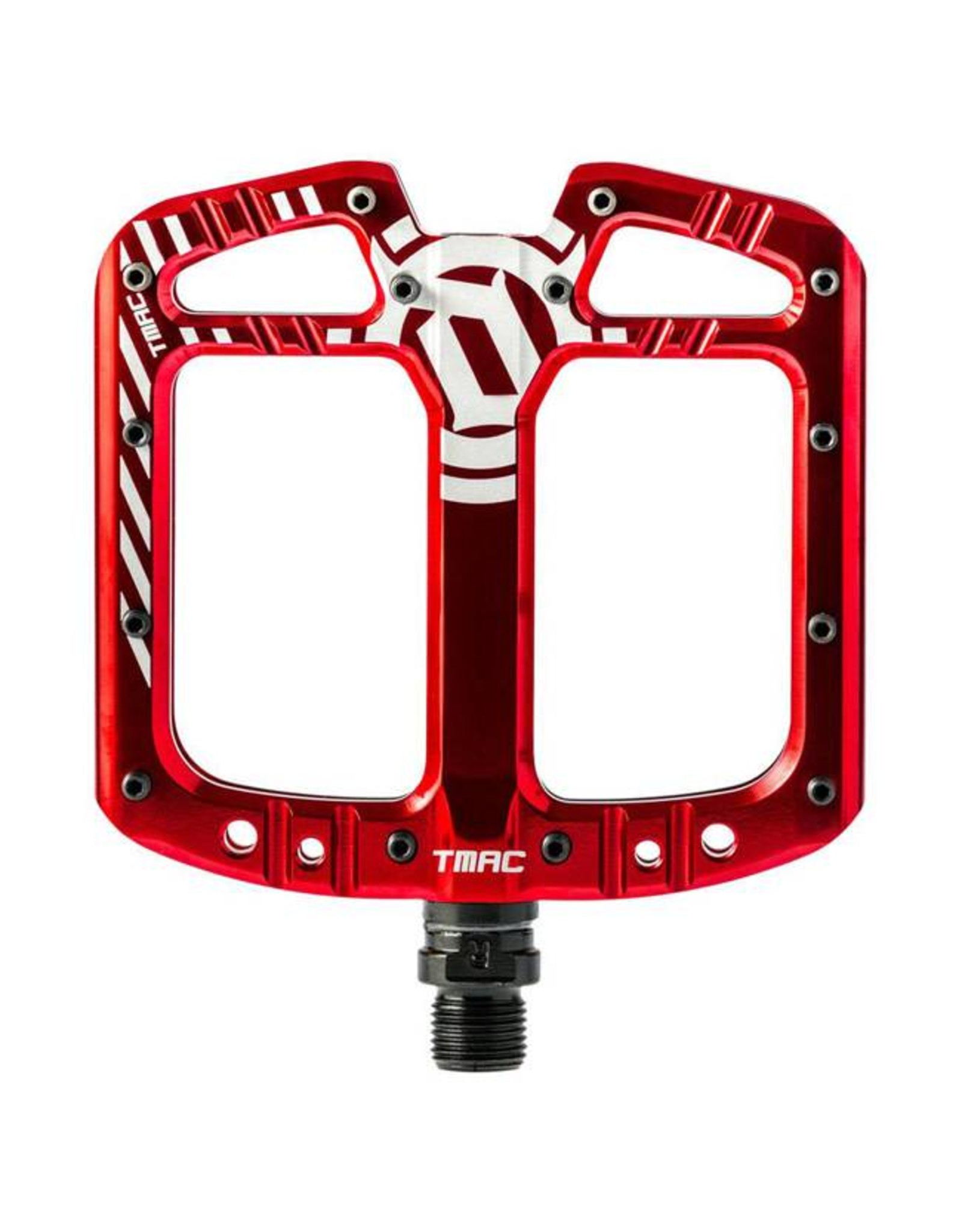 Deity Components Deity TMAC Pedals: Red/Laser Graphics