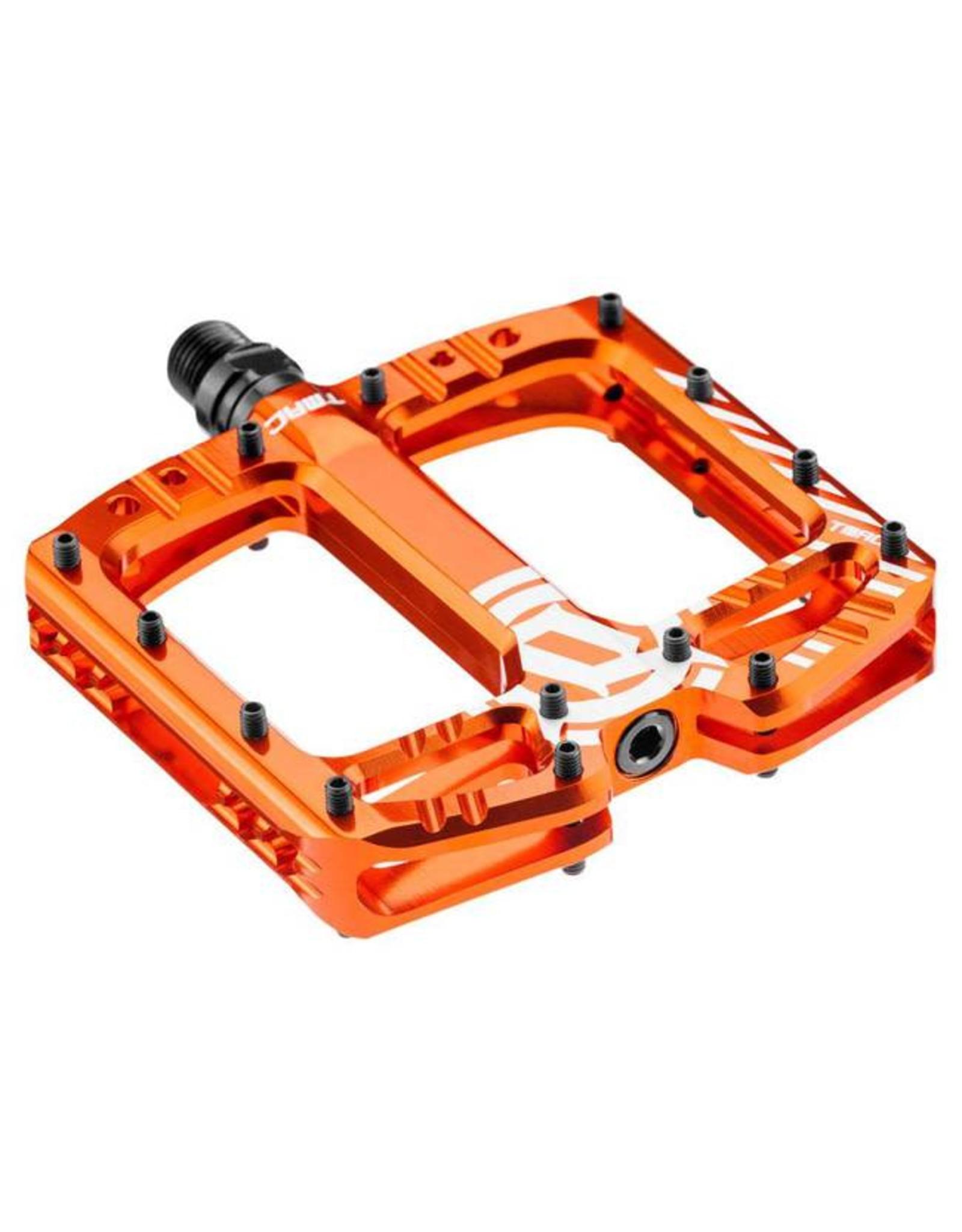 Deity Components Deity TMAC Pedals: Orange/Laser Graphics