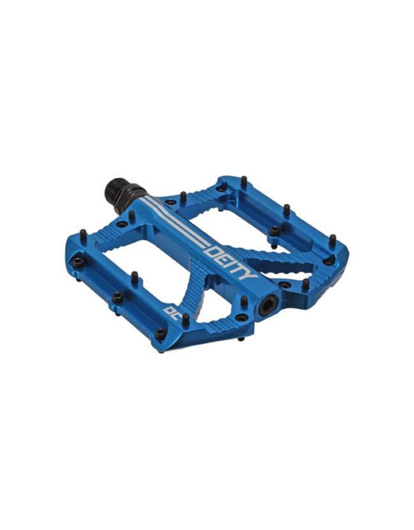 Deity Components Deity Bladerunner Pedals: Blue/Laser Graphics