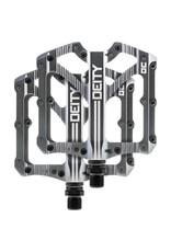 Deity Components Deity Bladerunner Pedals: Platinum/Laser Graphics