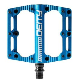 Deity Components Deity Black Kat Pedals: Blue/Laser Graphics