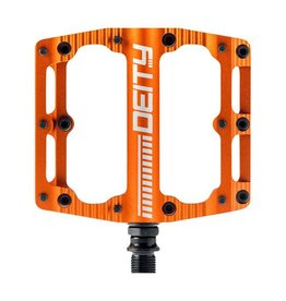 Deity Components Deity Black Kat Pedals: Orange/Laser Graphics