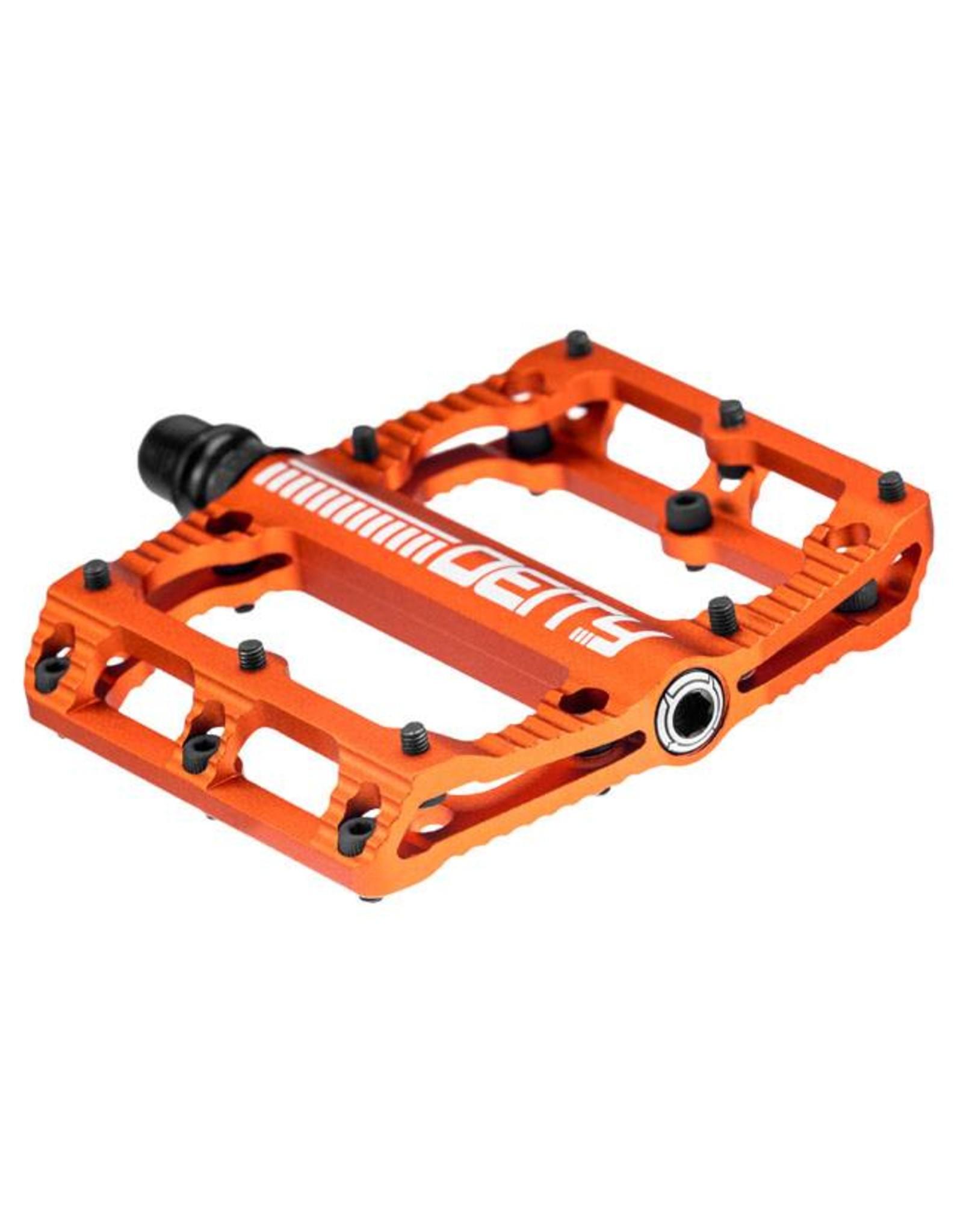 Deity Components Deity Black Kat Pedals: Orange/Laser Graphics
