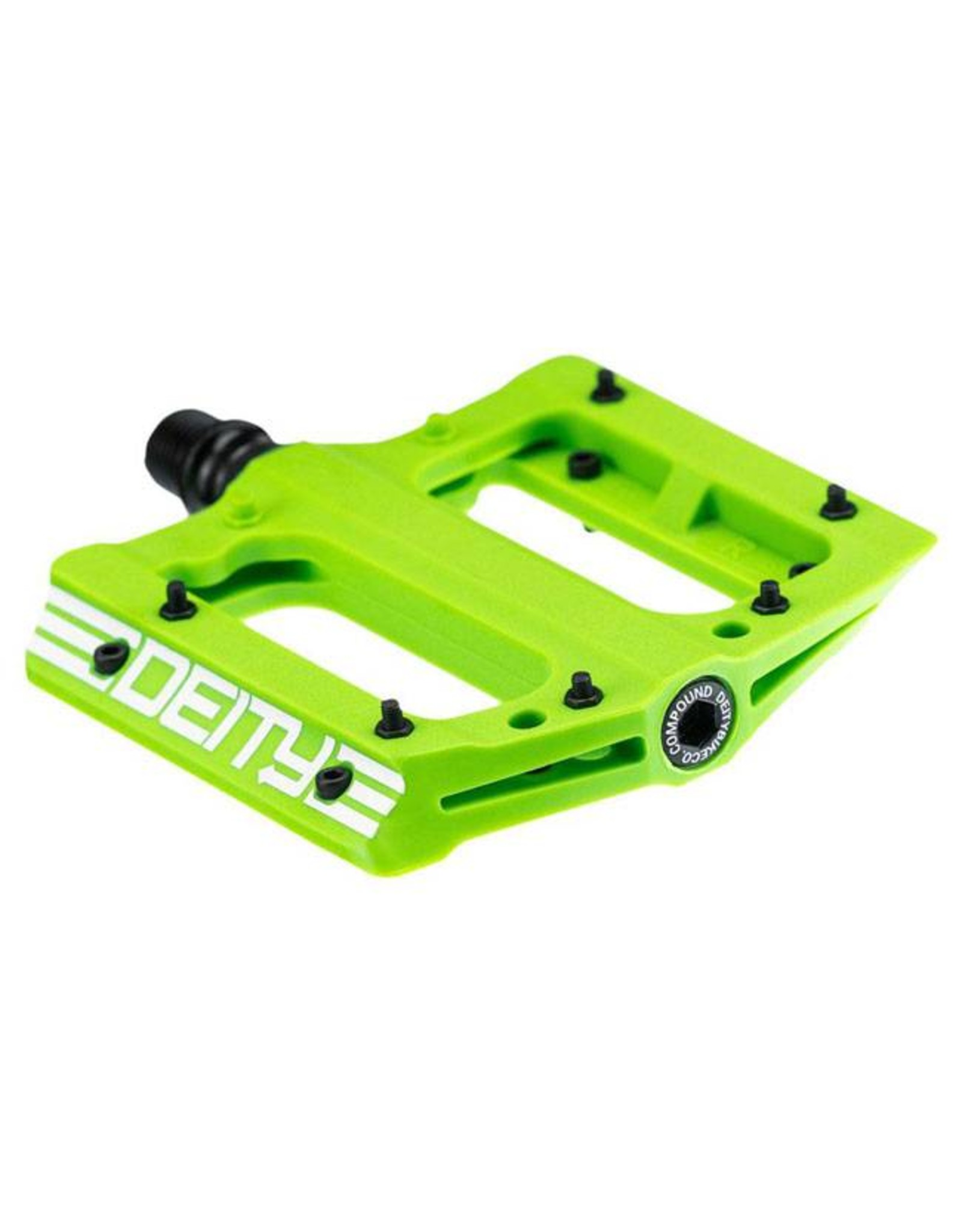 Deity Components Deity Compound Pedals: Green/White Graphics