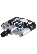Crank Brothers Crank Brothers  Mallet 3 Pedals: Raw/Black with Blue Spring