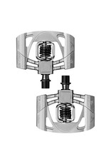 Crank Brothers Crank Brothers  Mallet 2 Pedals: Raw/Silver with Black Spring