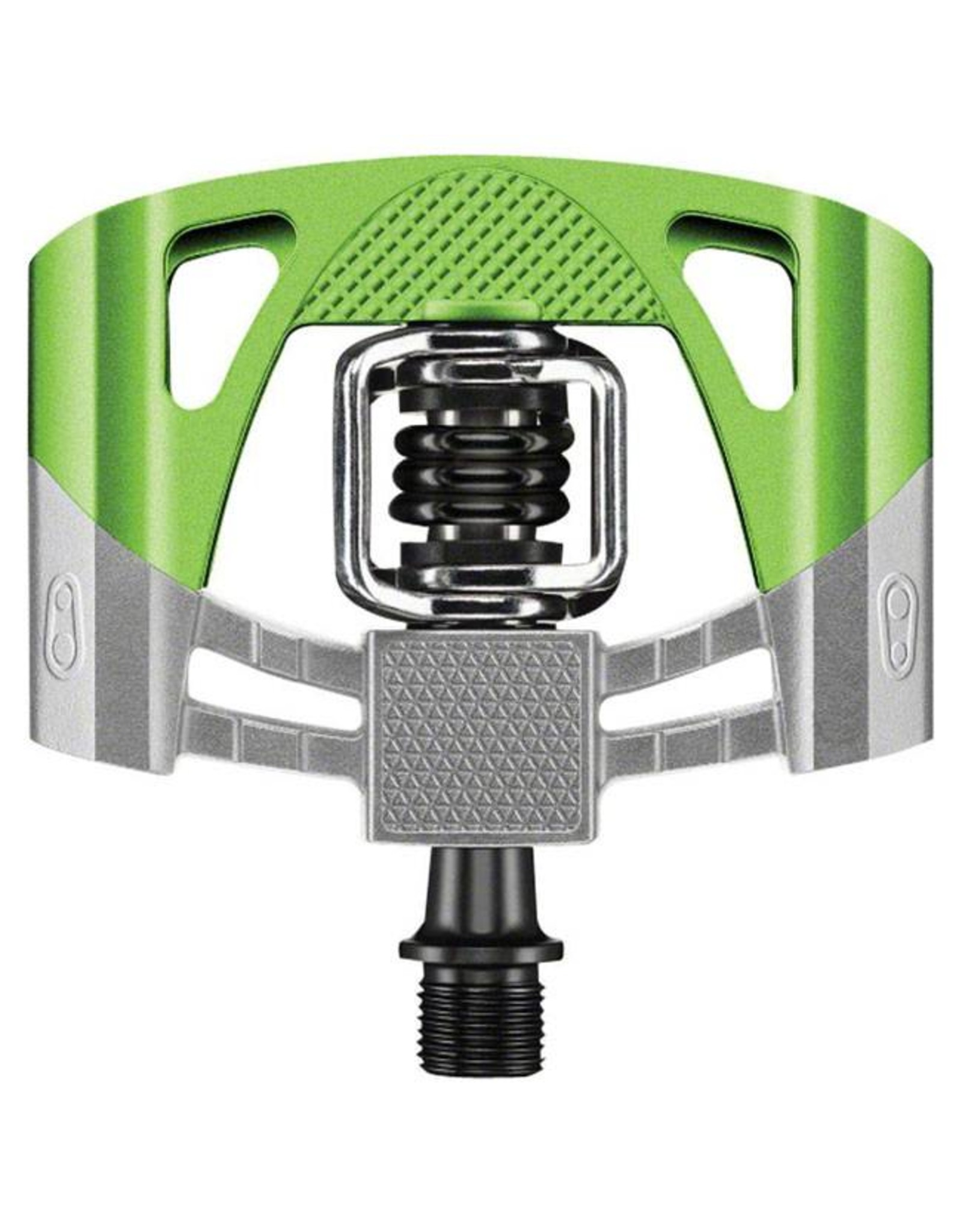 Crank Brothers Crank Brothers  Mallet 2 Pedals: Raw/Green with Black Spring