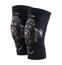 G-Form G-Form Pro-X Knee Pad: Black/Embossed G, LG