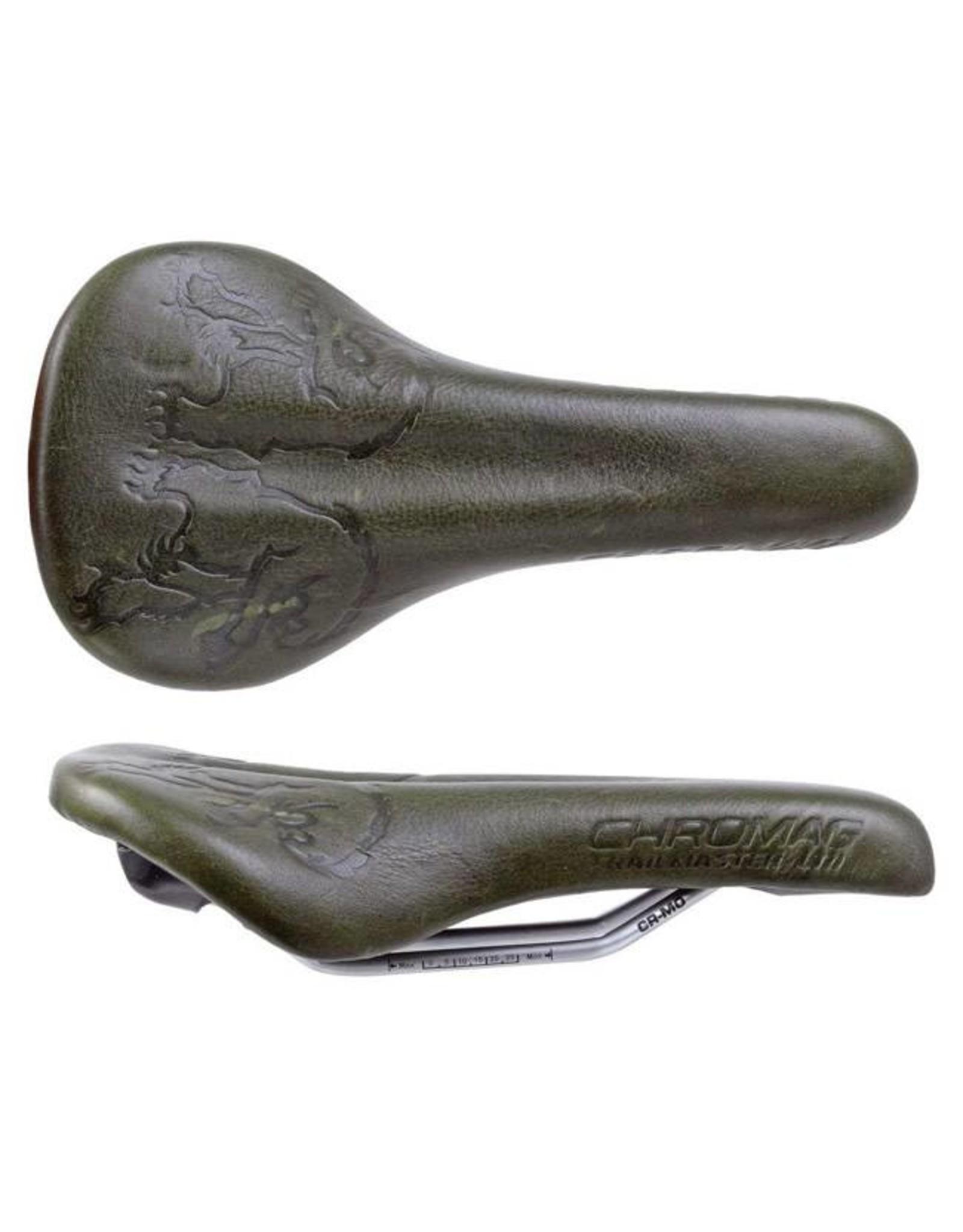Chromag Trailmaster LTD Saddle: Oiled Leather Cover, Pine