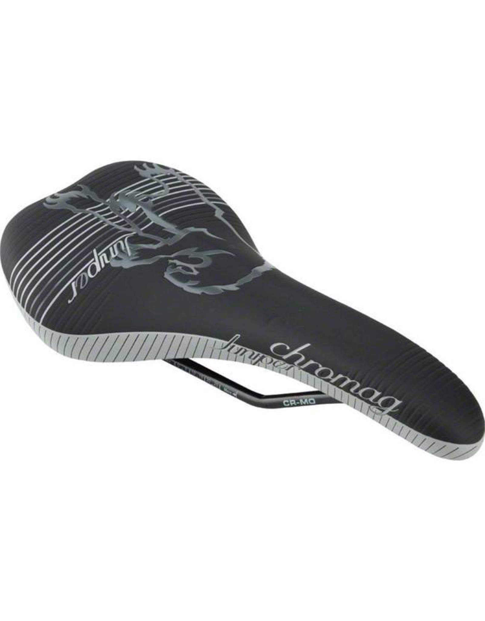 Chromag Womens Juniper Saddle: Synthetic Top, Black and Gray
