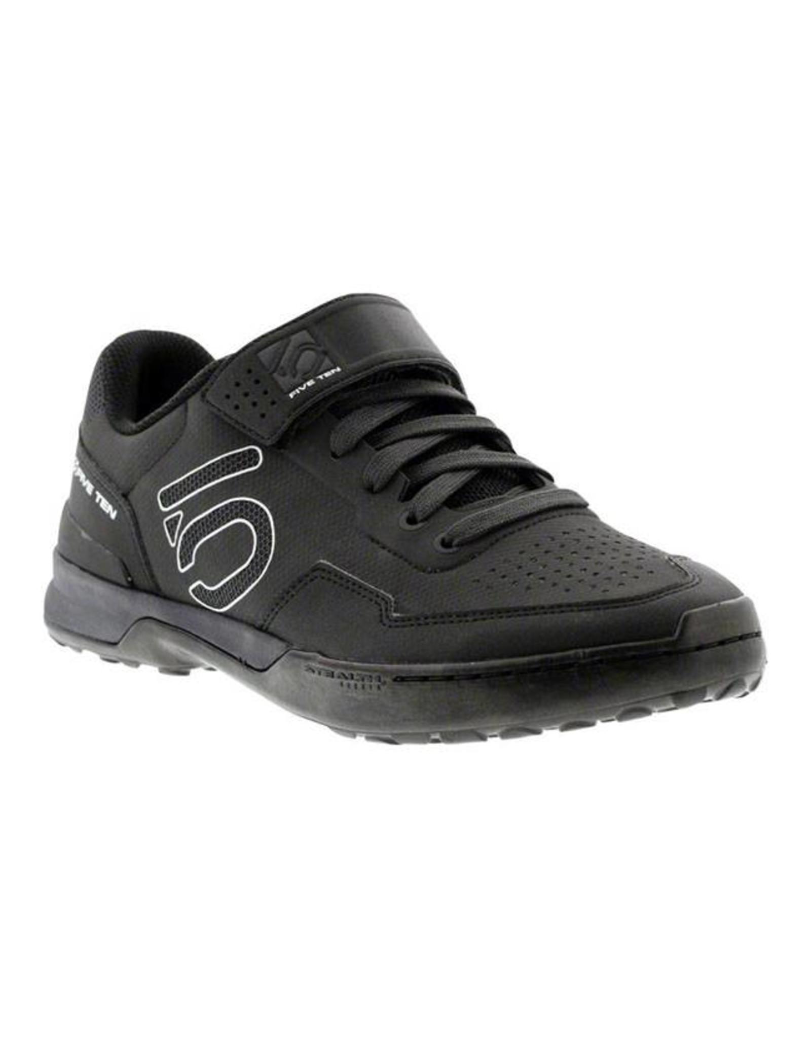 Five Ten Five Ten Kestrel Lace Men's Clipless Shoe: Black Carbon 8