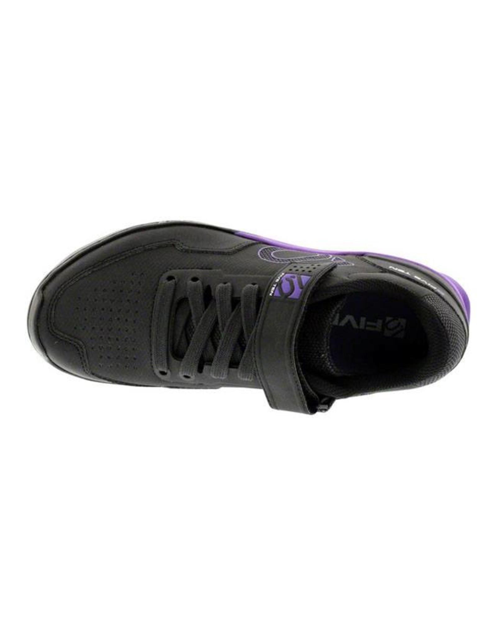Five Ten Five Ten Kestrel Lace Women's Clipless Shoe: Black Purple 5.5