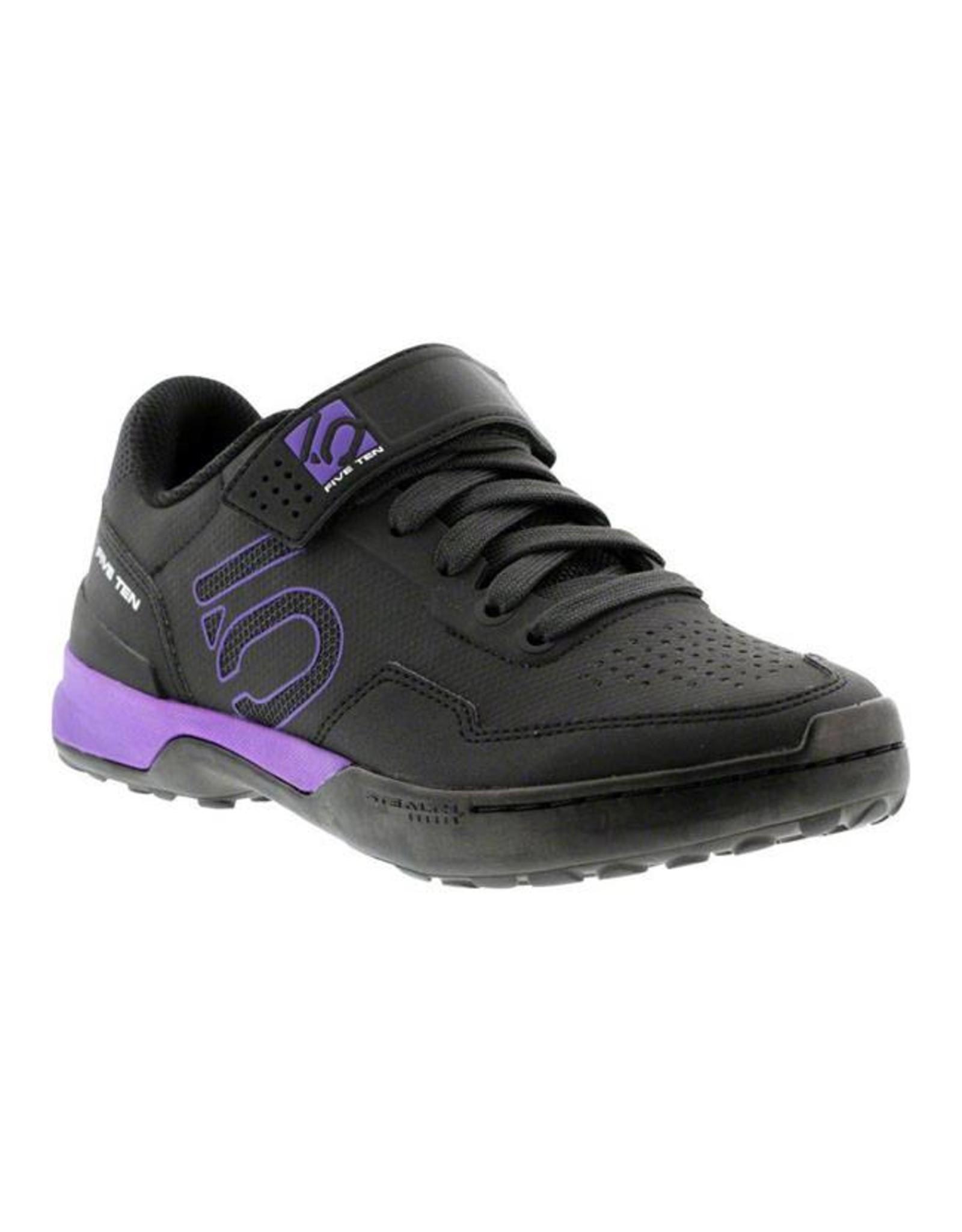 Five Ten Five Ten Kestrel Lace Women's Clipless Shoe: Black Purple 8.5