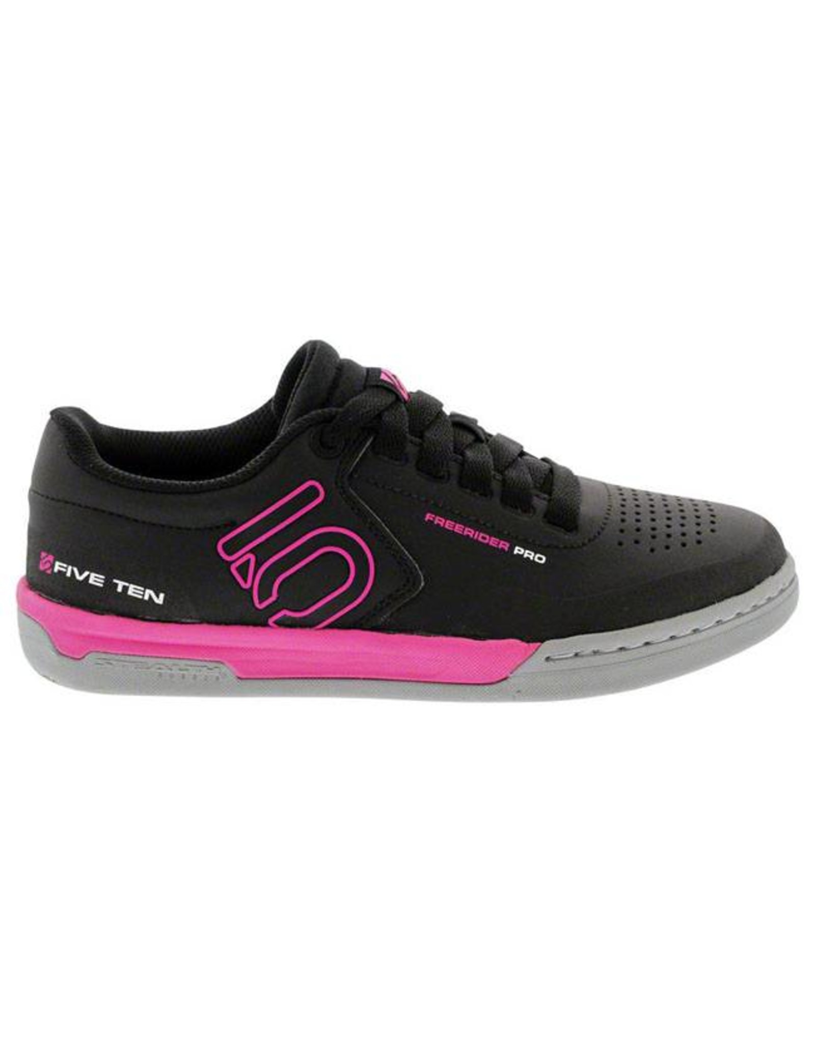 Five Ten Five Ten Freerider Pro Women's Flat Pedal Shoe: Black/Pink 7.5