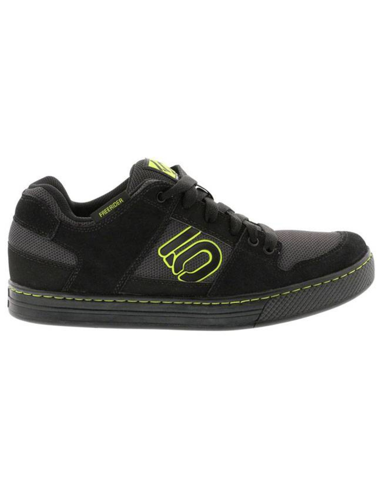 Five Ten Five Ten Freerider Men's Flat Pedal Shoe: Black Slime 9.5